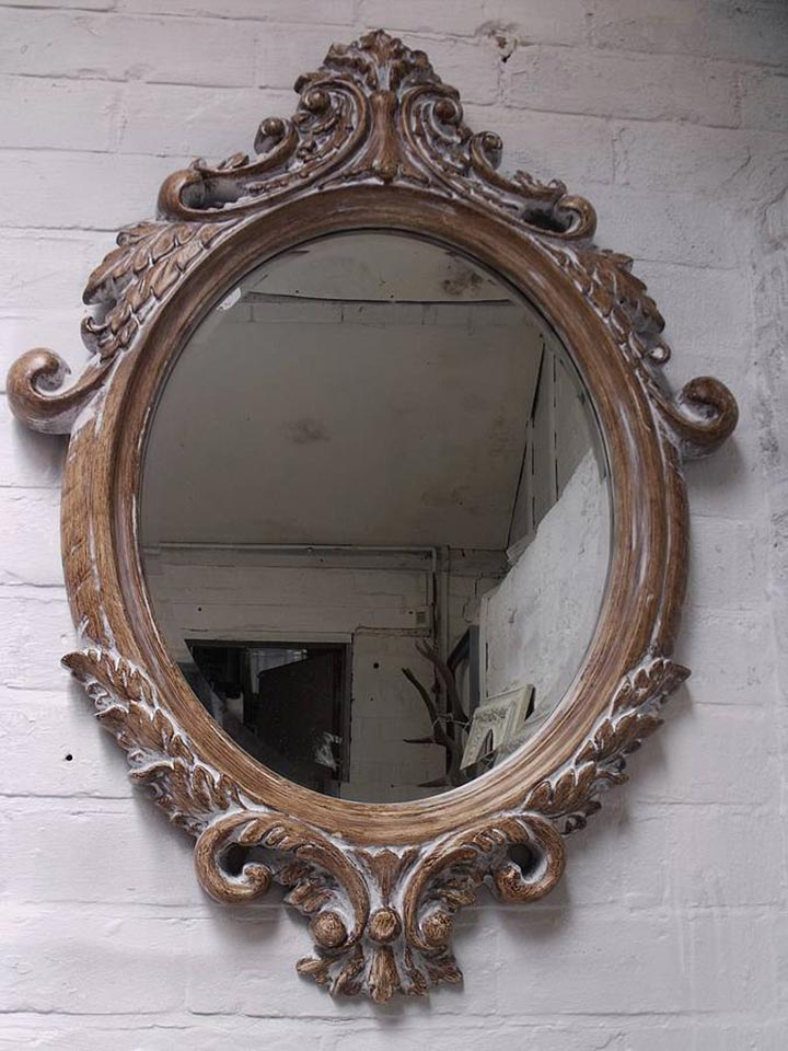 Oval Bevelled Ornate Mirror Hand Crafted Mirrors