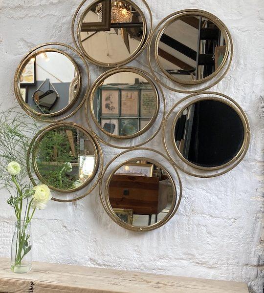 7x small round wall mirror
