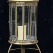 Brass Freestanding Lantern 01