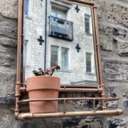 Pipe frame wall mirror 01